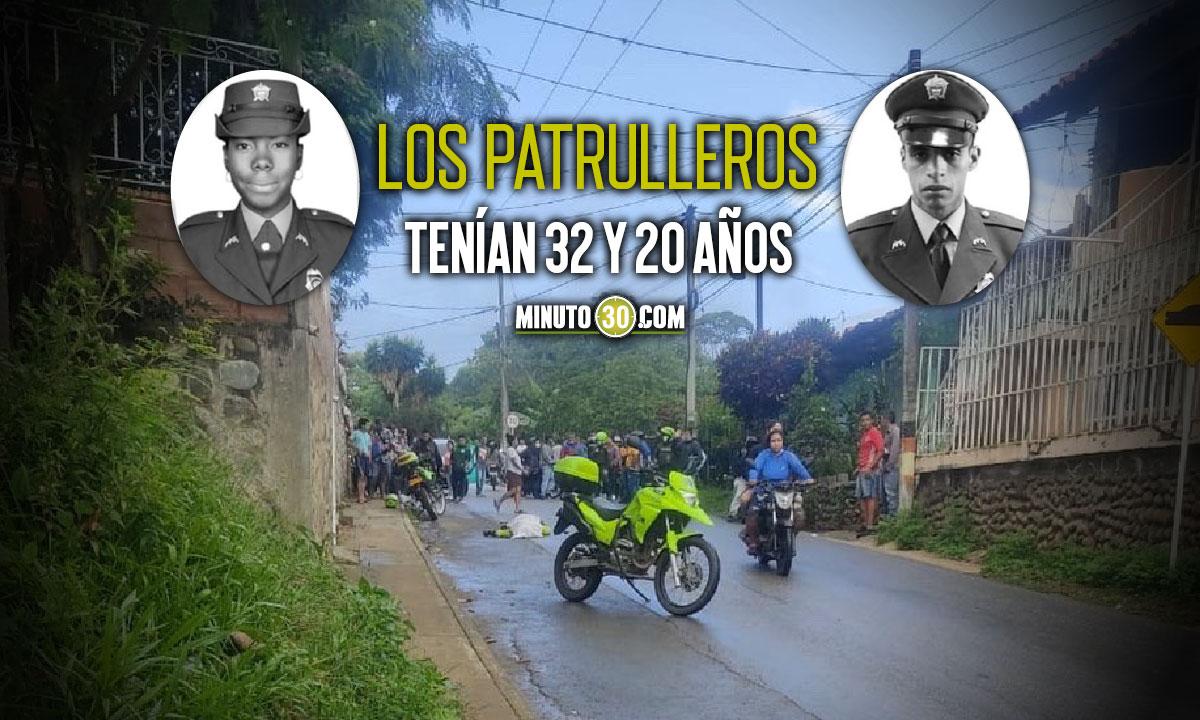 Asesinaron a dos patrulleros en Santander de Quilichao, Cauca