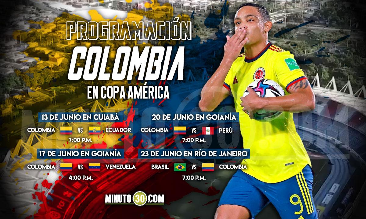 Calendario Colombia en Copa America