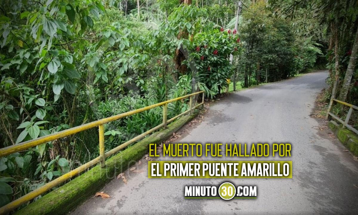Encontraron un muerto en zona rural de Caldas, Antioquia