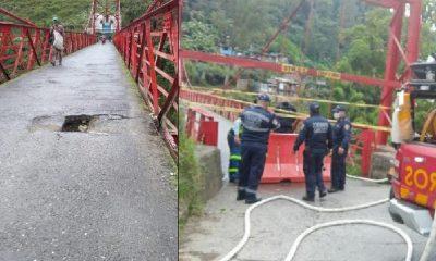 Puente Olivares en Manizales está cerrado por deterioro