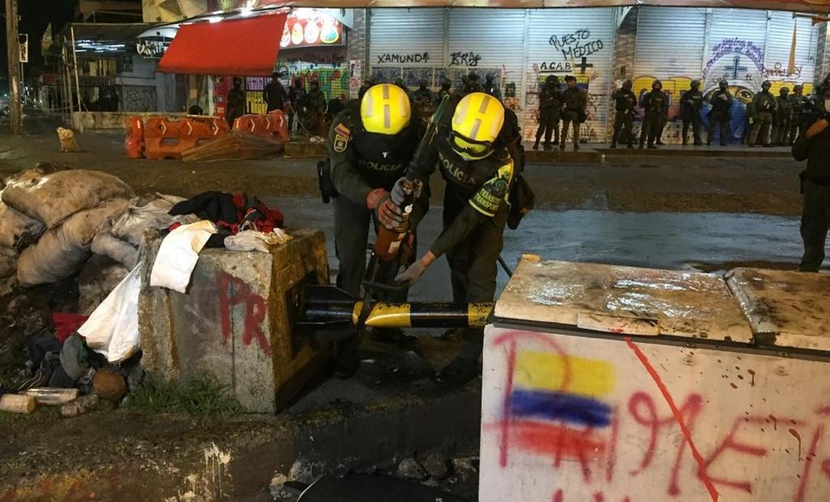 Fuerza Público desbloqueó Puerto Rellena en Cali