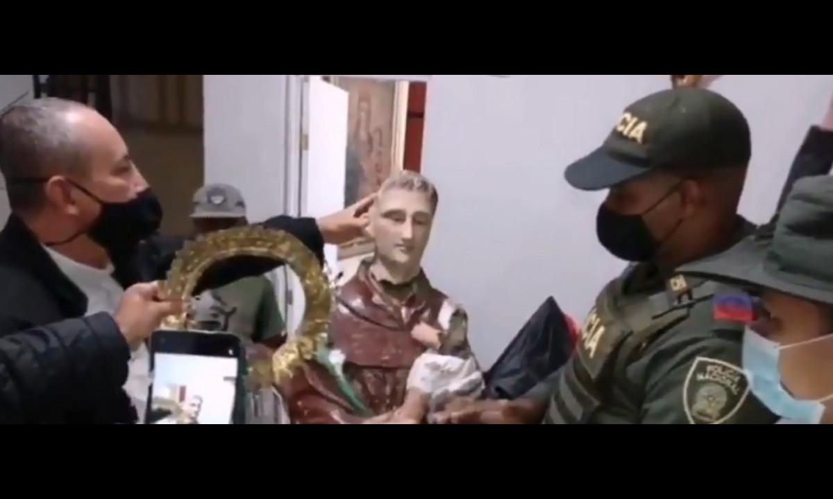 ¿Se la robaron? Policía recuperó la imagen de San Antonio patrono de Buriticá