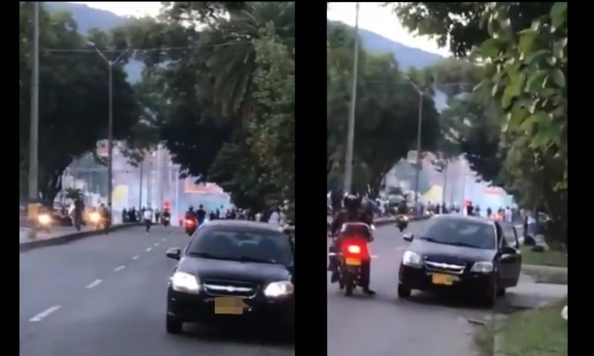 Si va por la Avenida San Juan ¡Pilas! Hay disturbios