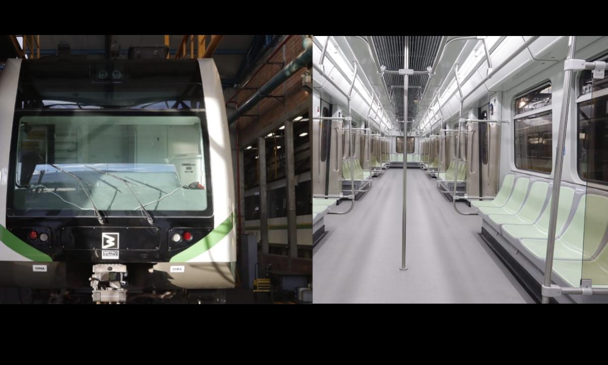 ¡Tan 'pinchados''! Hoy algunos pasajeros disfrutaron de un primer tren modernizado que circuló hoy en el Valle de Aburrá