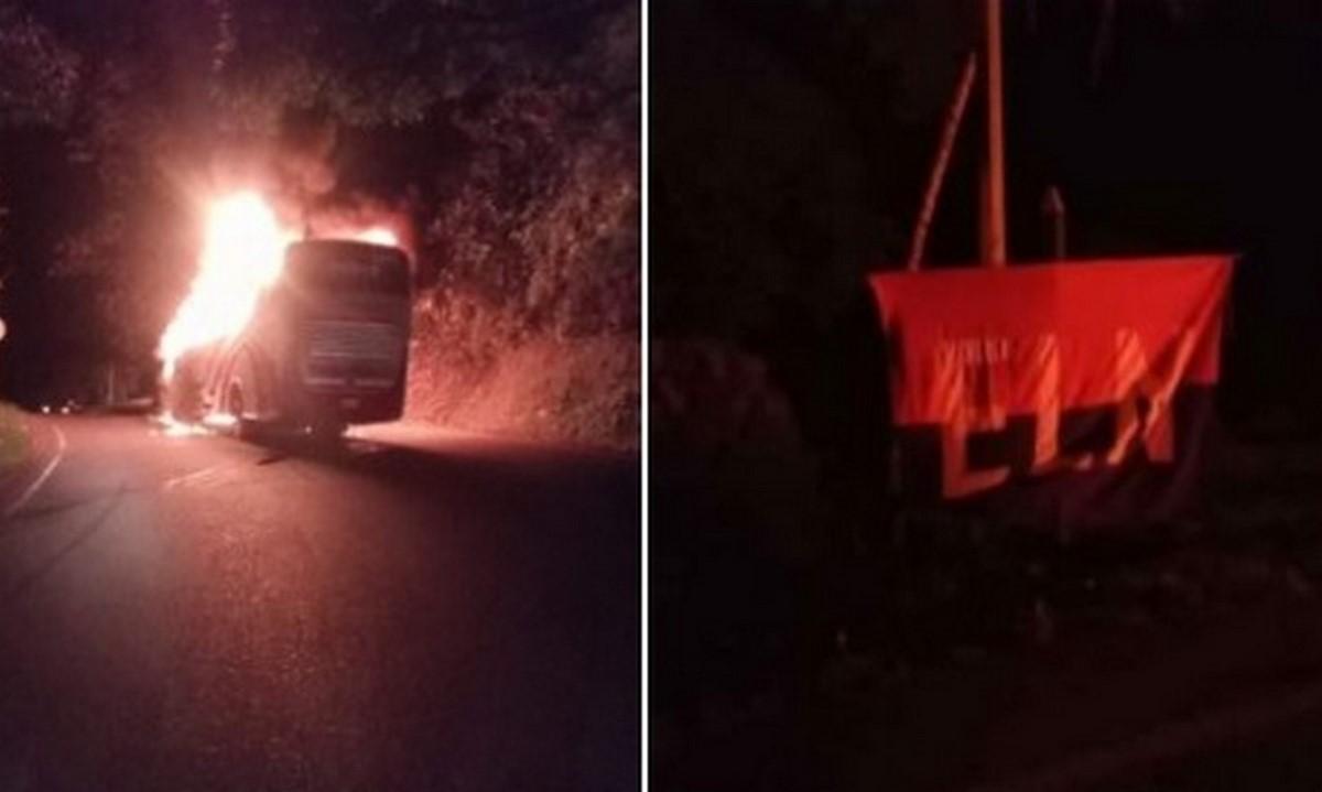 Al menos 9 vehículos fueron quemados en Valdivia