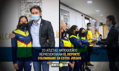 Alcalde de Medellín entregó la bandera de la ciudad a la delegación antioqueña que participará en los Juegos Olímpicos