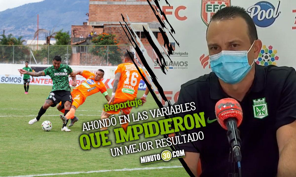 Alejandro Restrepo analizo lo sucedido en el Polideportivo Sur en el empate con Envigado