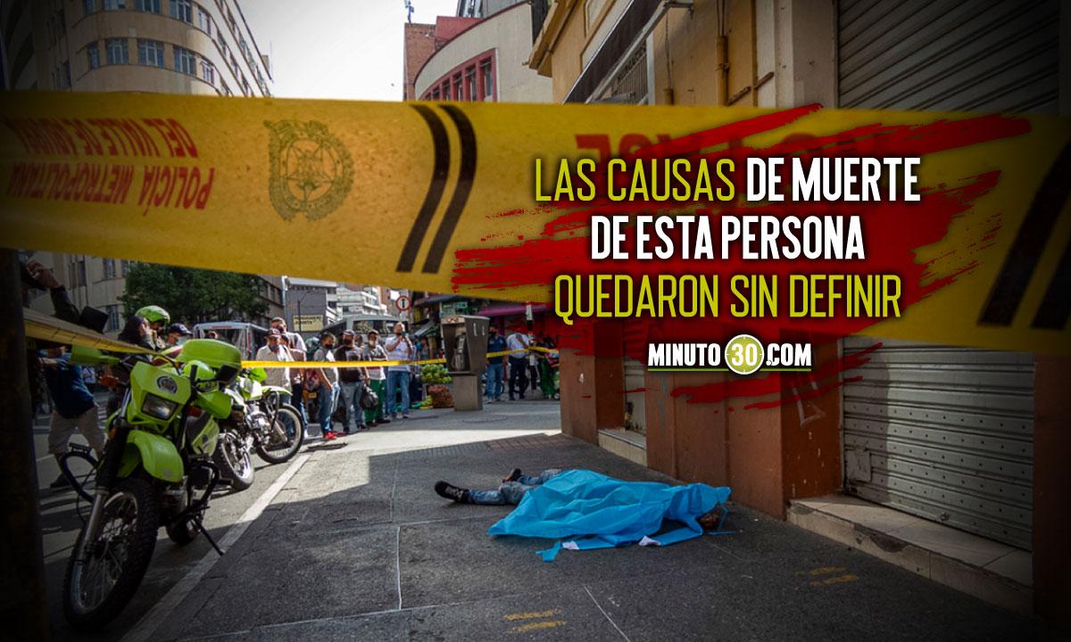 Aparecio un muerto tirado en pleno centro de Medellin