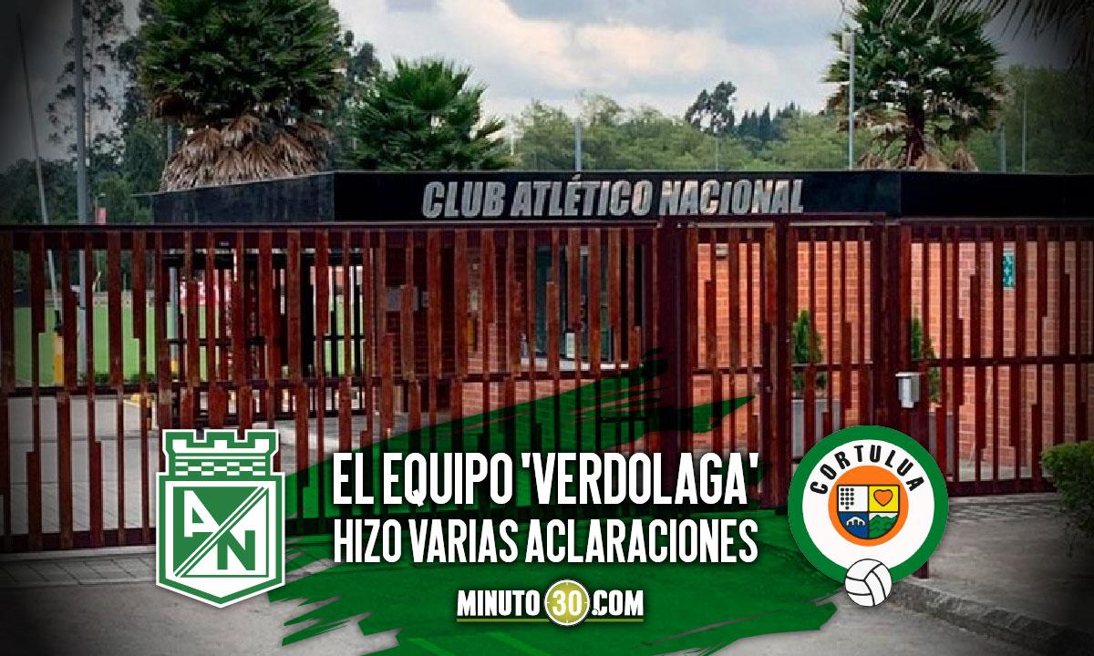 Atletico Nacional emitio nuevo comunicado en referencia a litigio con Cortulua