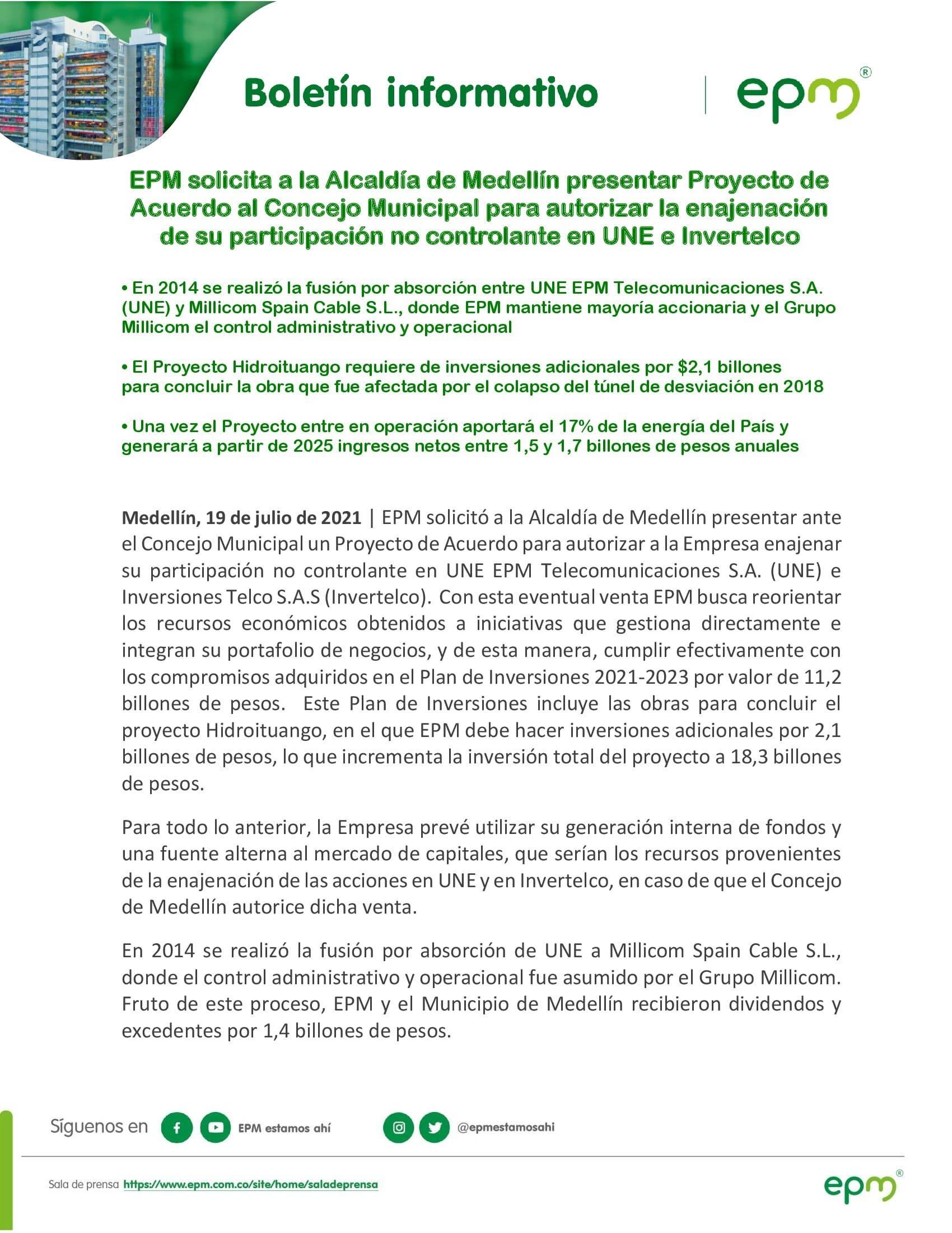Boletin Informativo EPM UNE e Invertelco 19072021 00001
