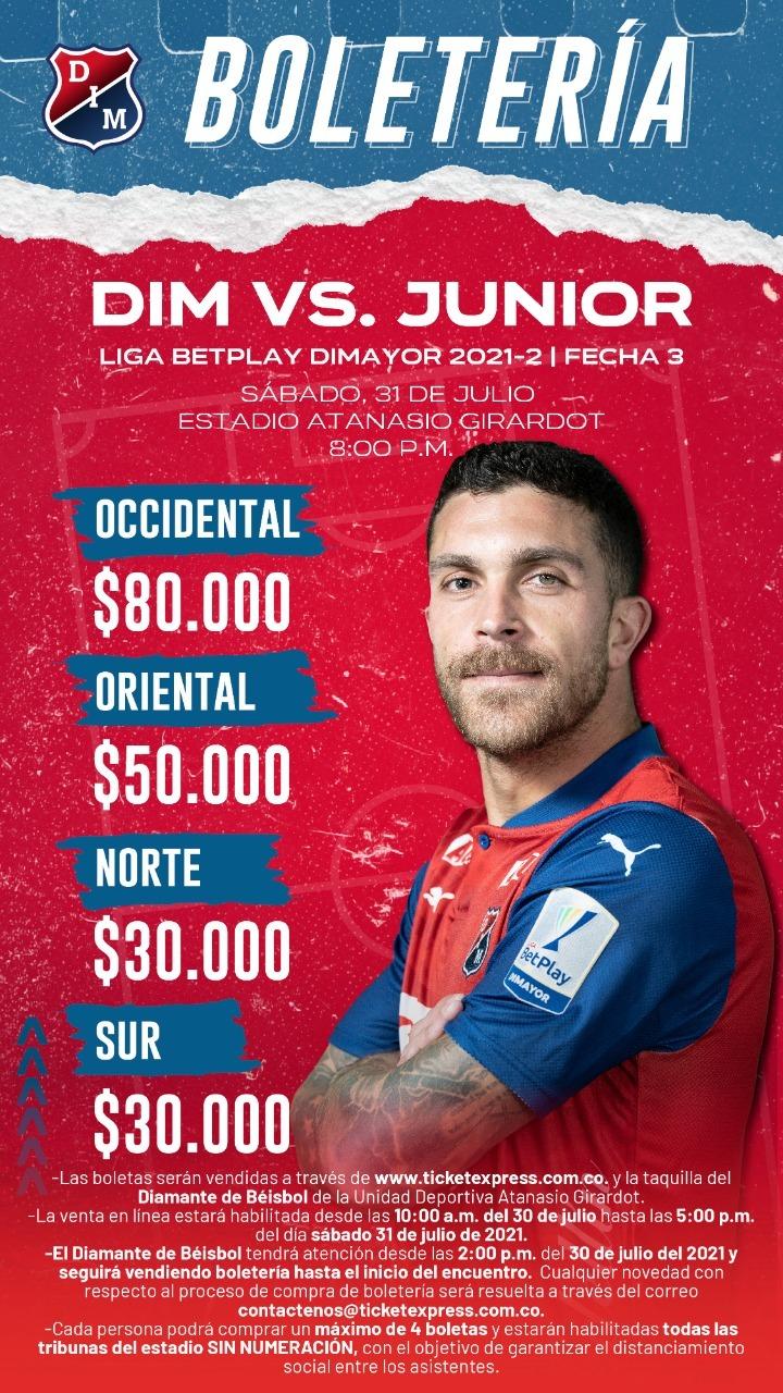 Boletria Medellin Junior 2