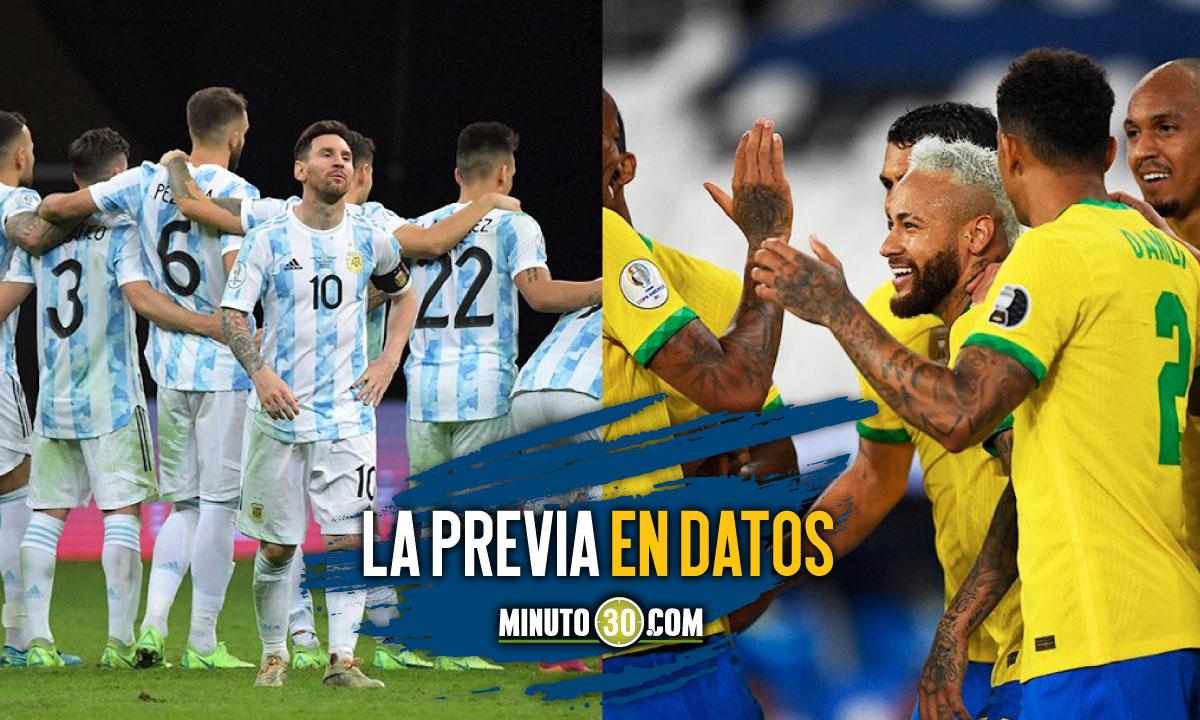Brasil Argentina los numeros de la final de la Copa America