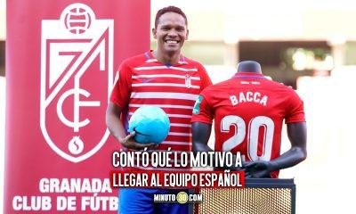 Carlos Bacca compartio las sensaciones de su vinculacion al Granada