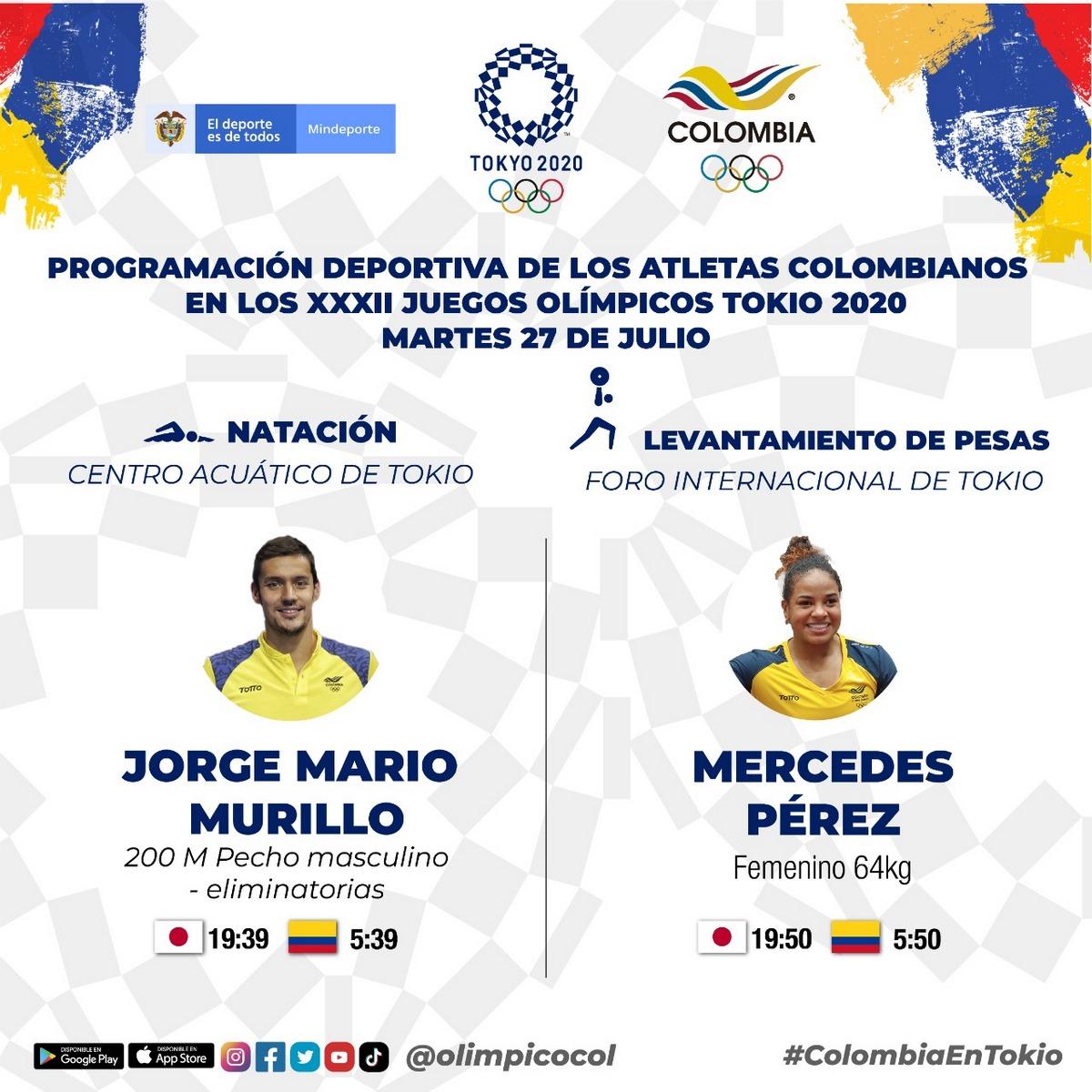 Colombia martes Juegos Olimpicos
