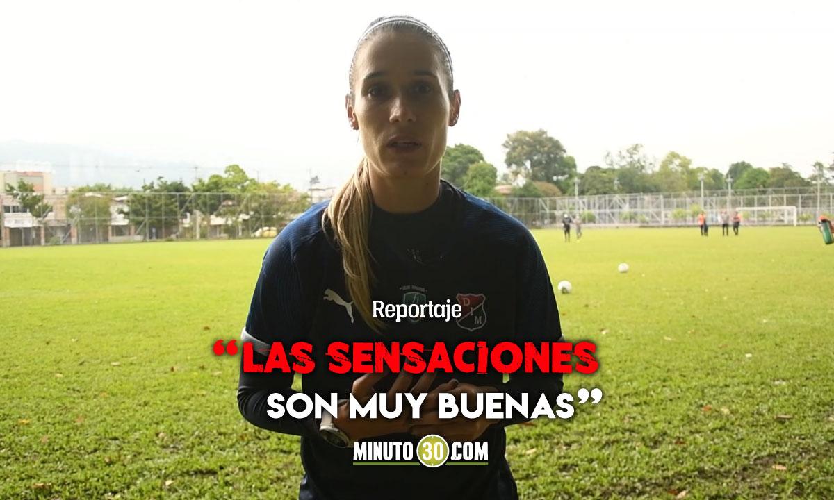 Daniela Montoya motivada para el debut del DIM en la Liga Femenina