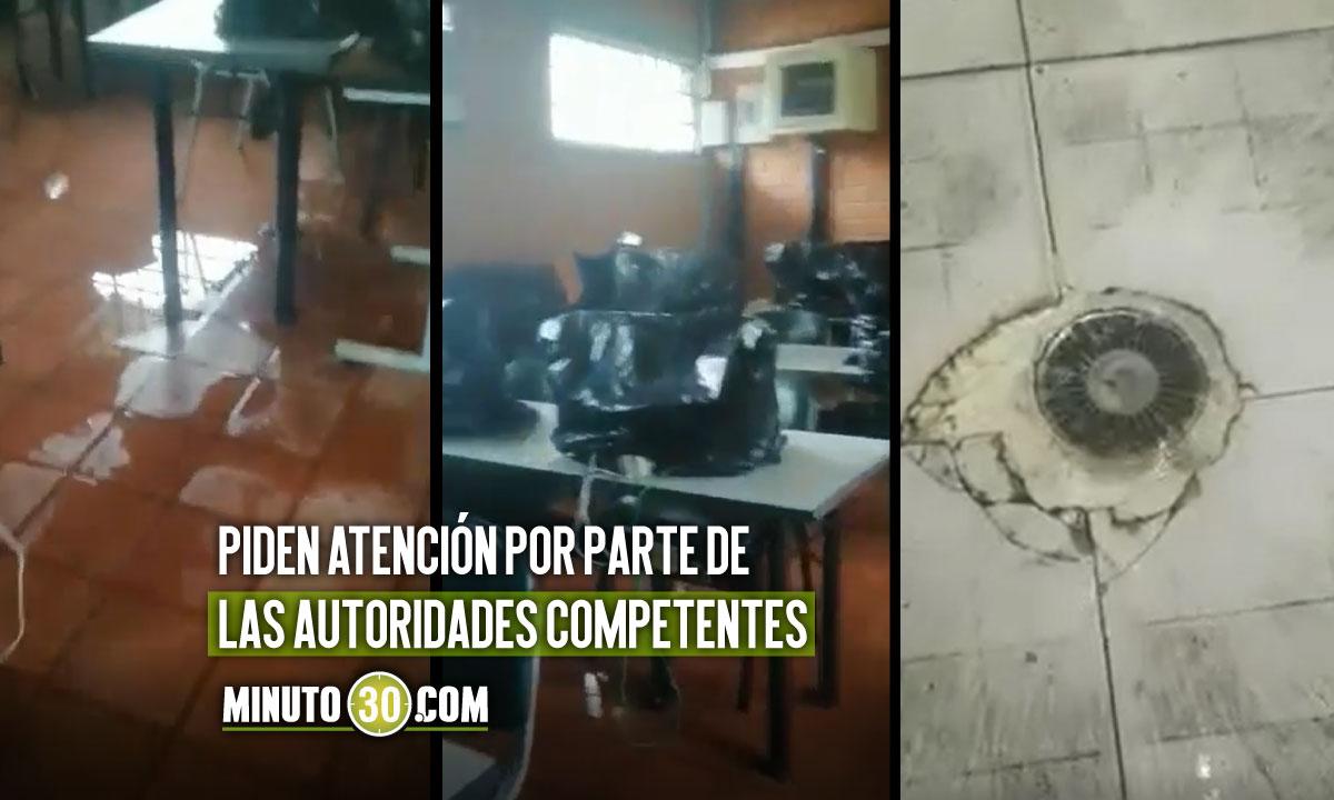 Denuncian mal estado de colegio en San Antonio de Prado