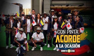Deportistas colombianos emotivos en la ceremonia de inauguracion 1