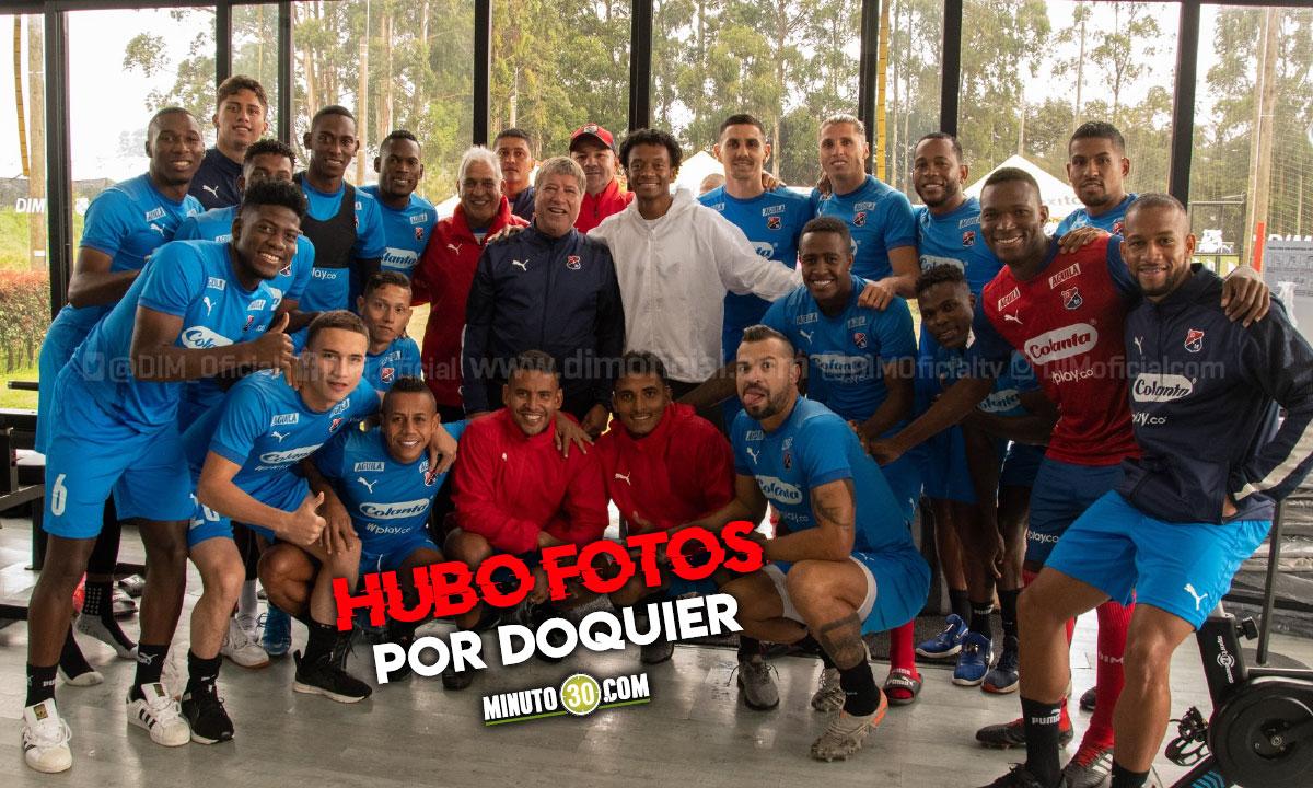En Independiente Medellin disfrutaron la visita de Juan Guillermo Cuadrado