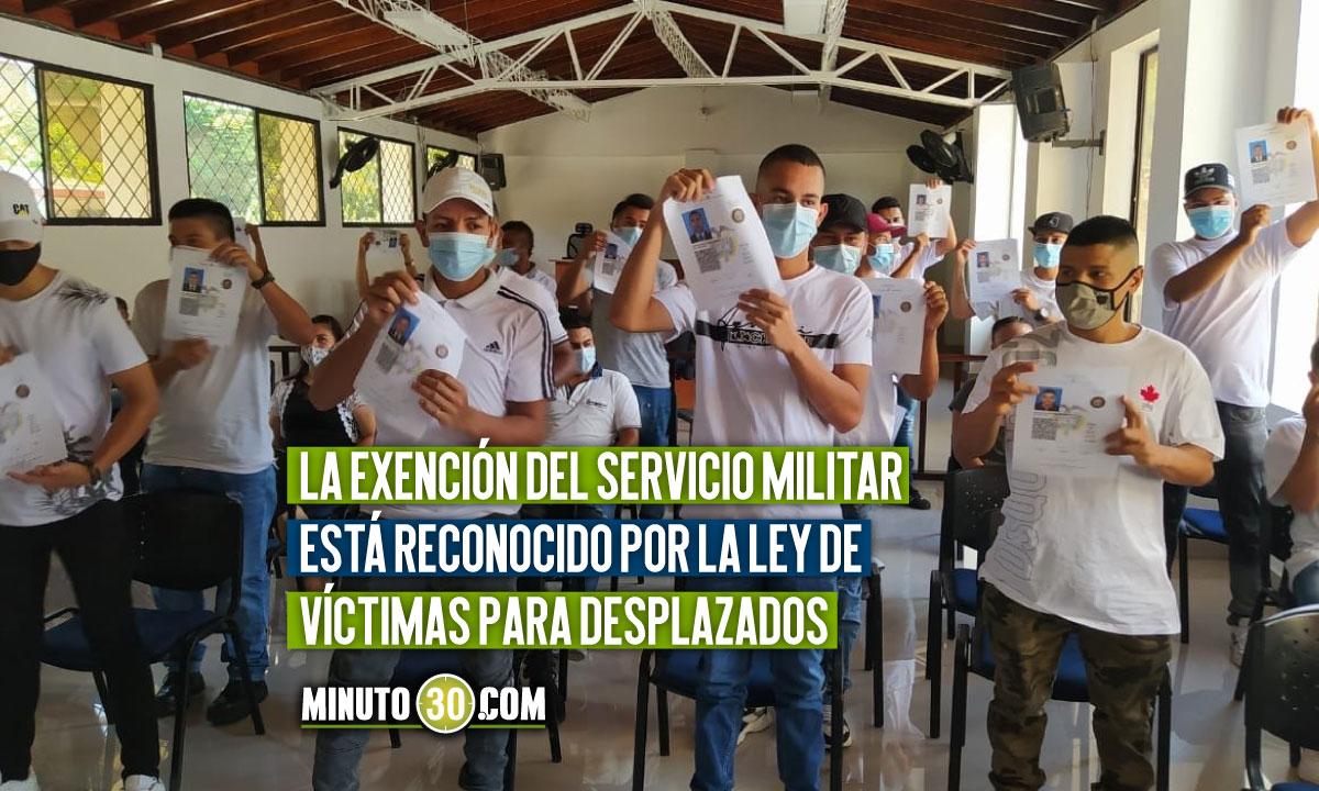 Entregaron libretas militares gratuitas a jóvenes en Antioquia
