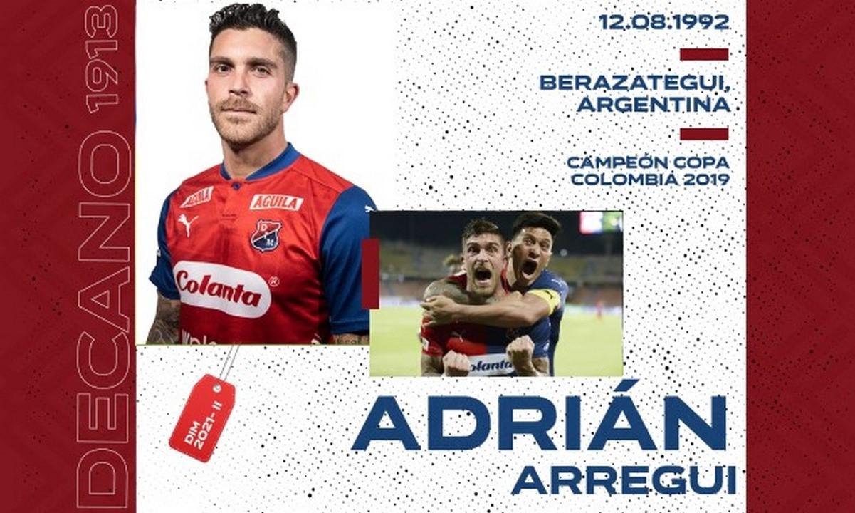 Independiente Medellin confirmo el regreso de Adrian Arregui