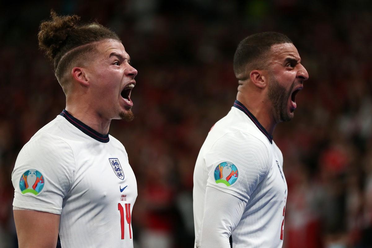 Inglaterra celebro el paso a la final de la Eurocopa 7
