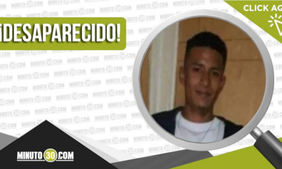 Jhon Sebastián Zapata Arboleda está desaparecido
