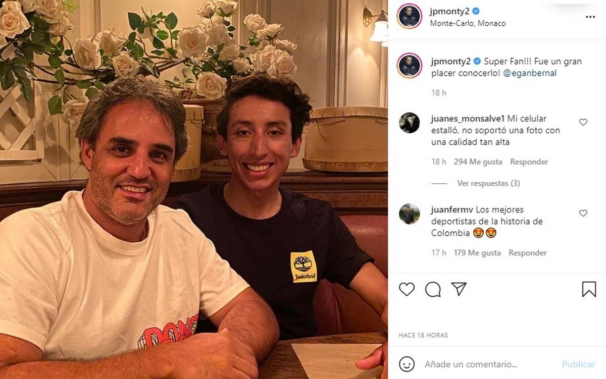 Juan Pablo Montoya egan bernal