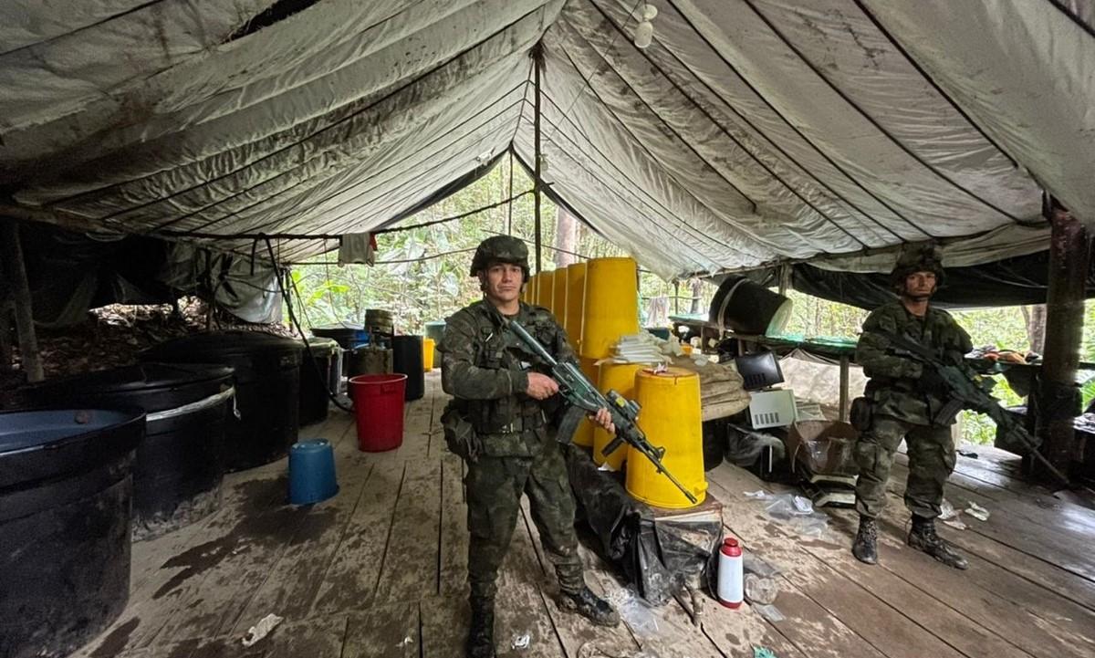 Desmantelaron laboratorio de clorhidrato de coca en Bolívar