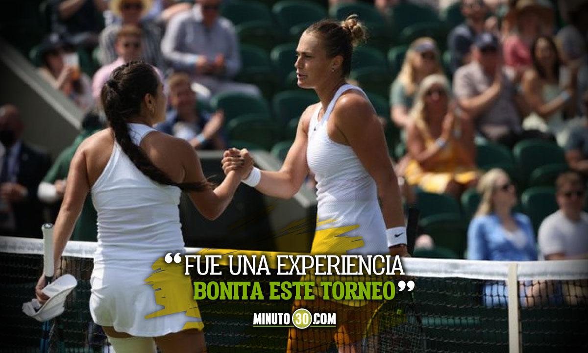 Maria Camila Osorio se marcha satisfecha de Wimbledon