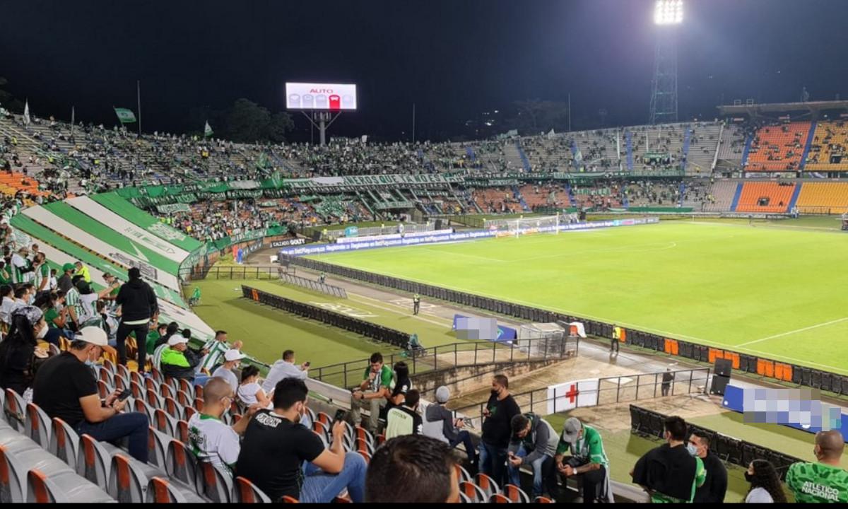 Finaliza el primer tiempo del partido entre Atlético Nacional y Deportes Tolima