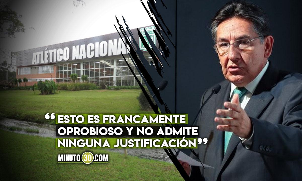 Nestor Humberto Martinez dejo claro que Cortulua no vera un centavo de Nacional