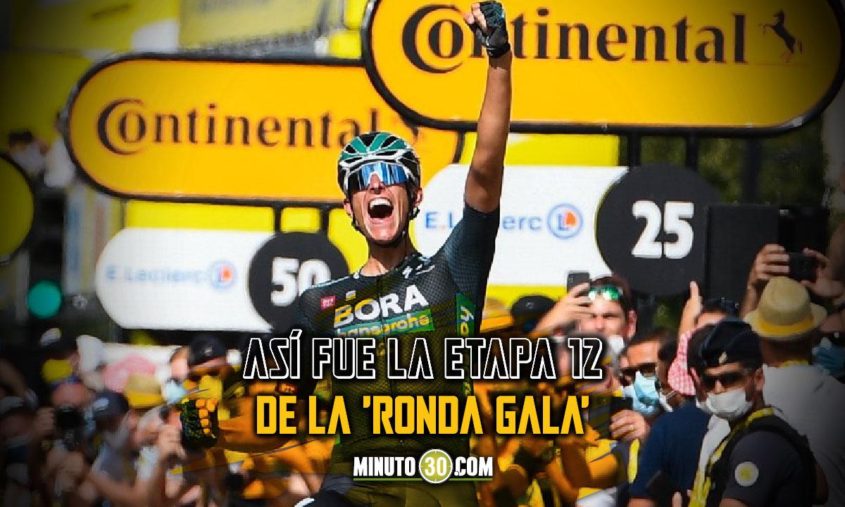 Nils Politt celebro este jueves en el Tour de Francia