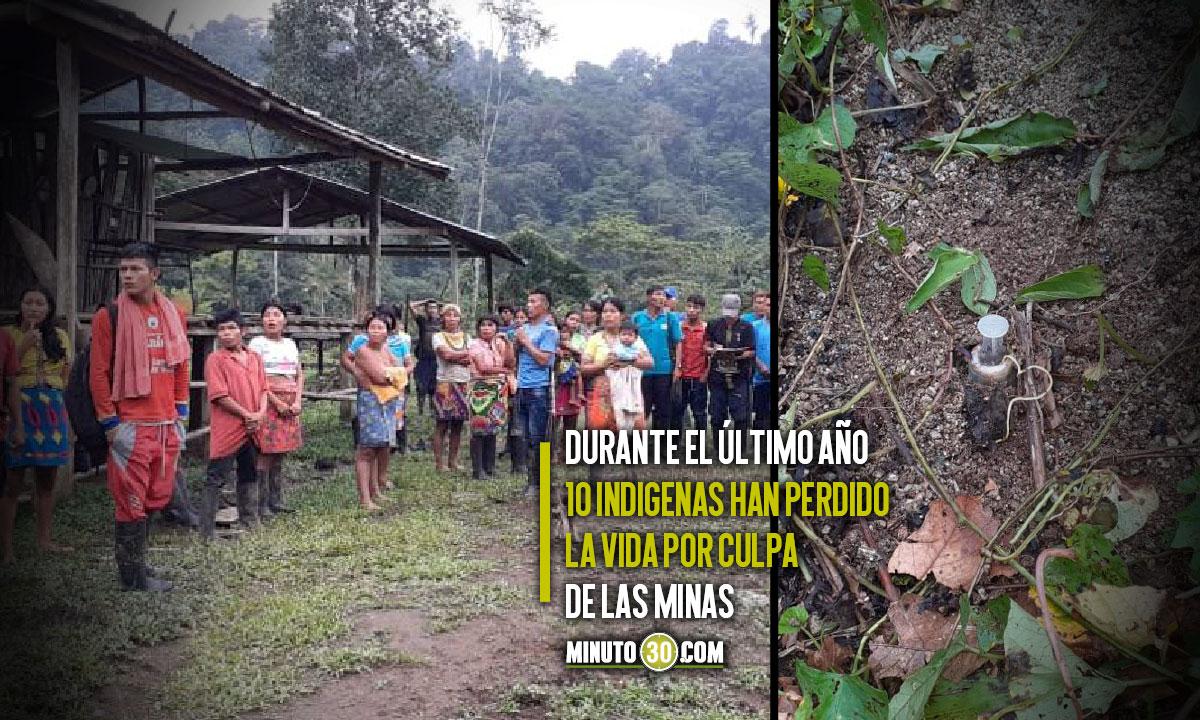 Otro indígena en Antioquia pisó una mina antipersona