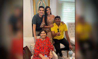 Peter Manjarrés llevó a Farid Ortiz como sorpresa de cumpleaños a su mamá