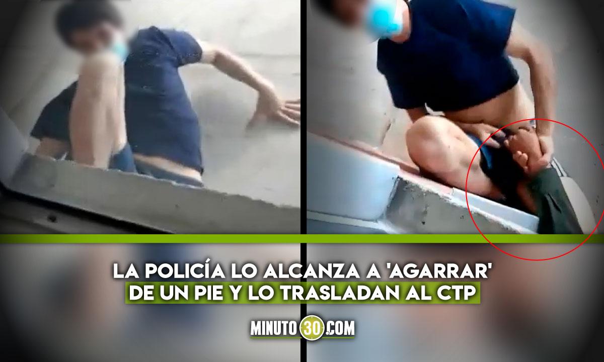 Joven se iba a tirar de un piso 7 en Medellín
