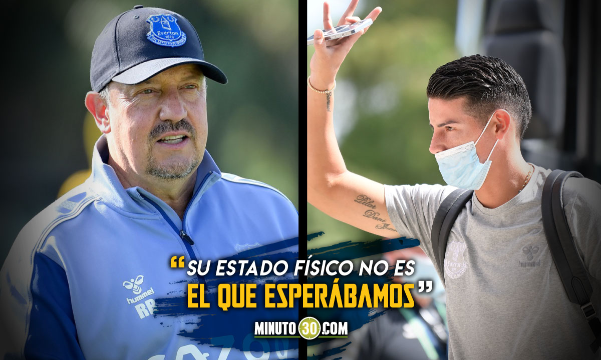 Rafa Benitez solto elogio y critica para James Rodriguez