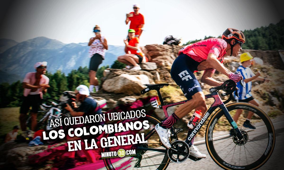 Rigoberto Uran no tuvo una buena jornada y cedio su posicion el podio