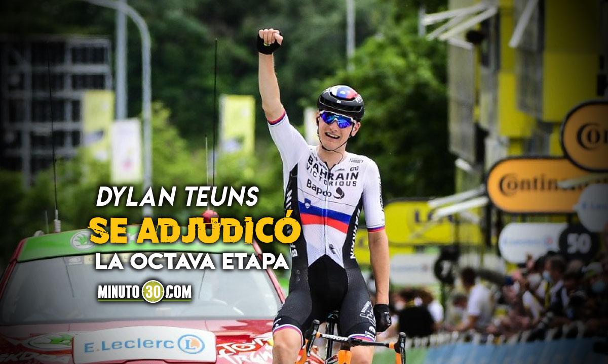 Tadej Pogacar mostro sus condiciones y asumio liderato del Tour de Francia