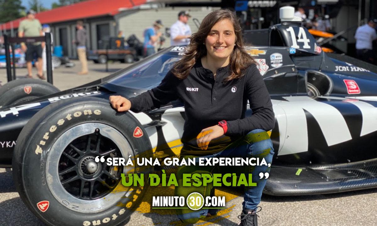 Tatiana Calderon probara un Indycar el proximos martes