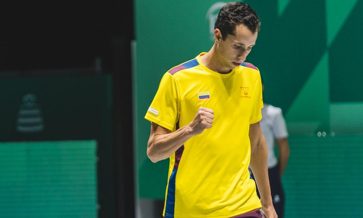 Tenista colombiano Daniel Galan