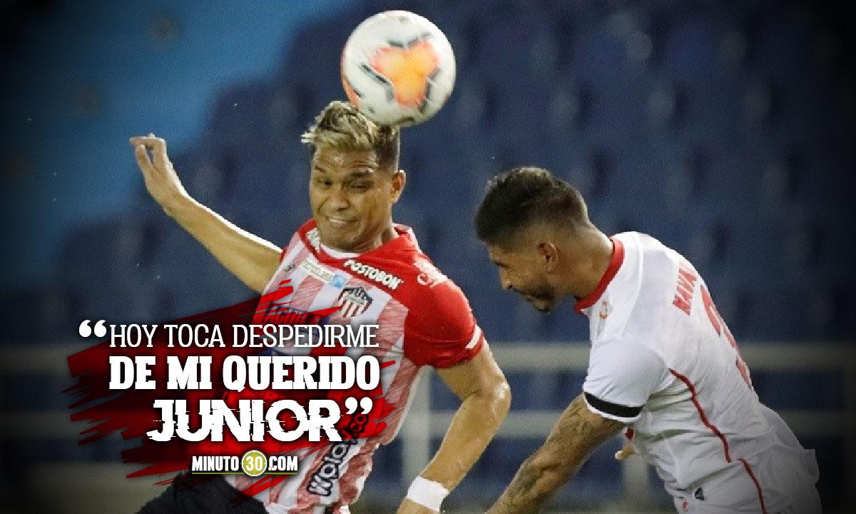 Teofilo Gutierrez se despidio de Atletico Junior