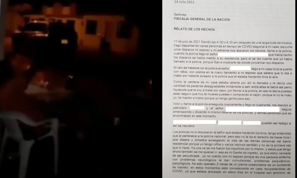 [Video] Comunidad denunció que un Policía hace tiros al aire cada vez que se emborracha