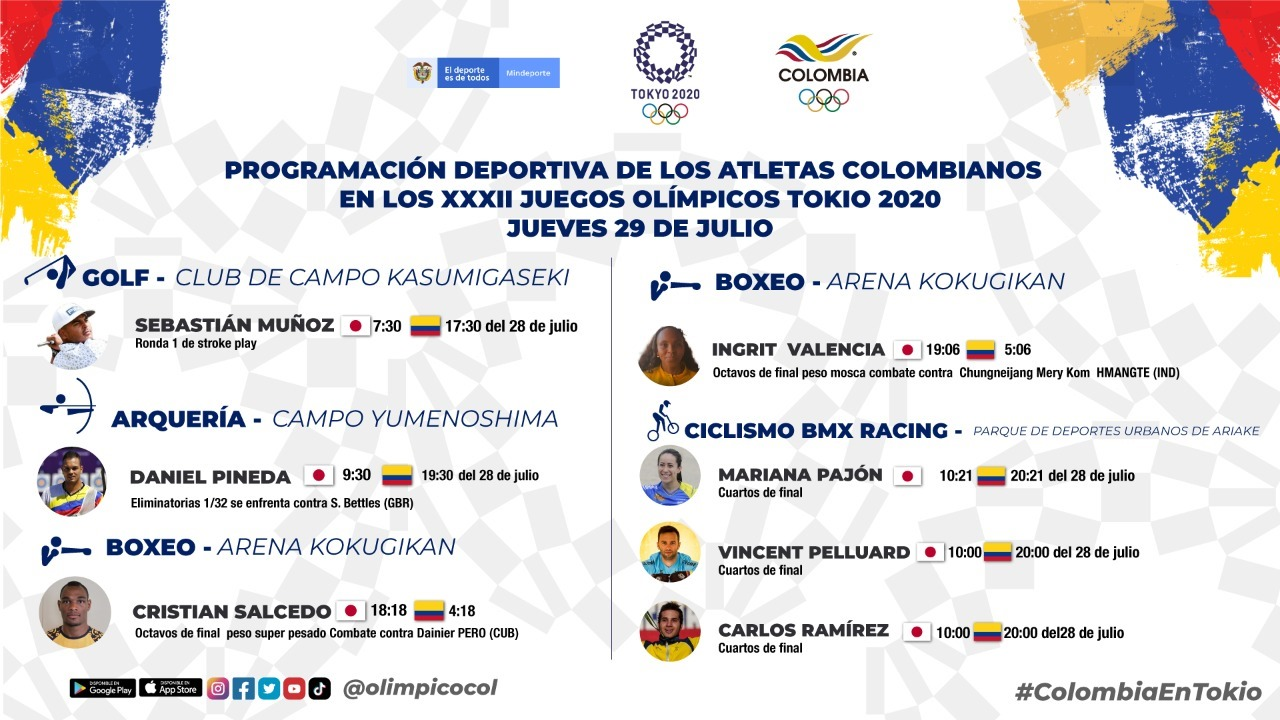Varios deportistas colombianos estaran en accion en Juegos Olimpicos en esta jornada