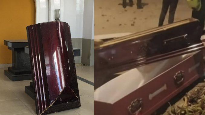 Vándalos saquearon una funeraria en Bogotá