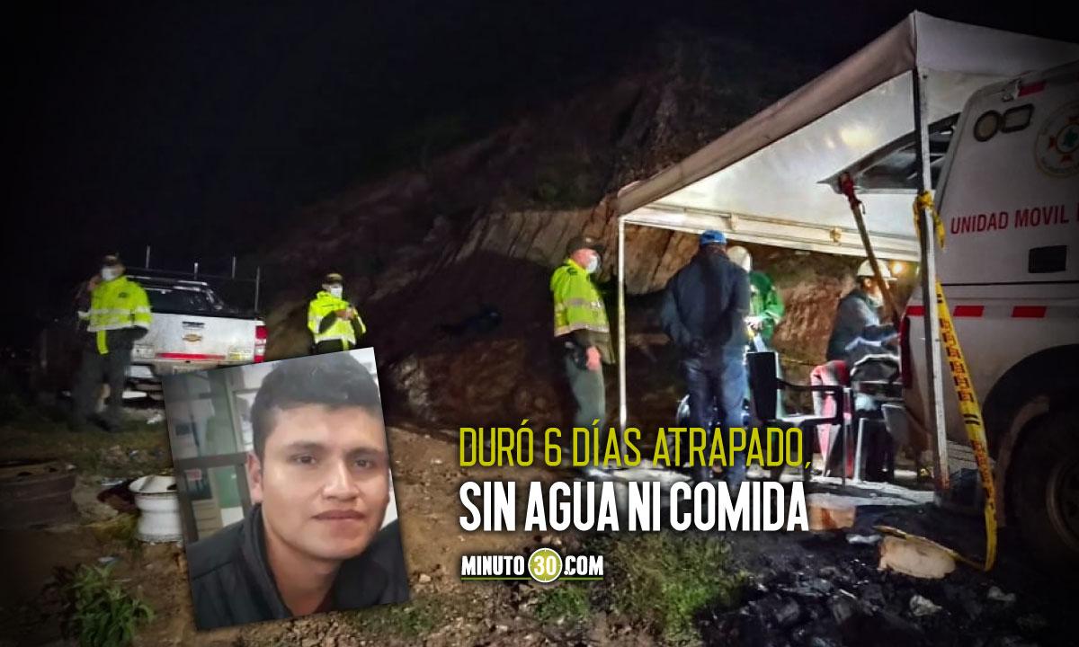 Rescataron con vida a minero atrapado en socavón de Boyacá