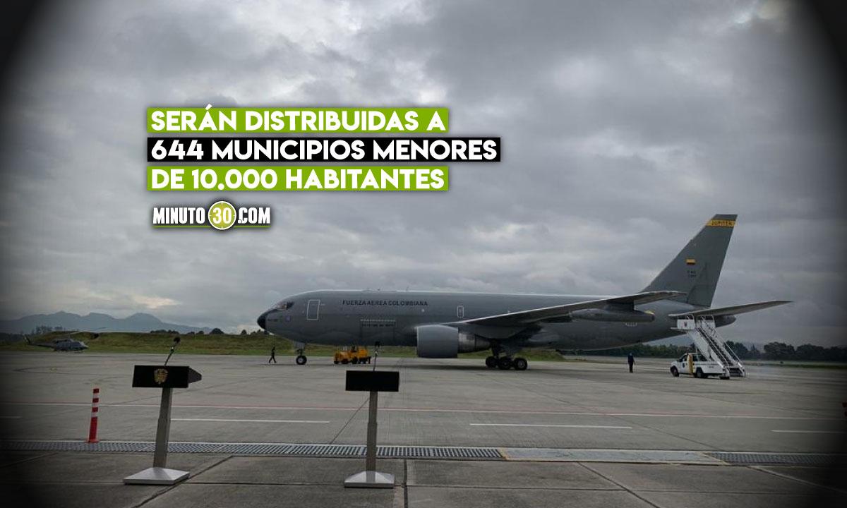 Llegaron a Colombia las 2.5 millones de vacunas Janssen