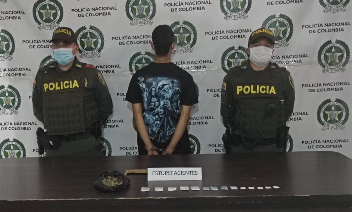 Capturado en Andes por llevar cocaína y marihuana