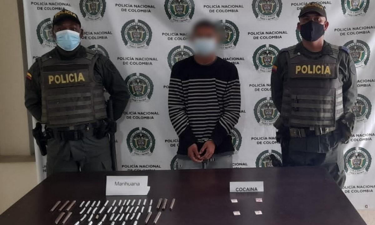 Capturado en Yalí por llevar marihuana y cocaína