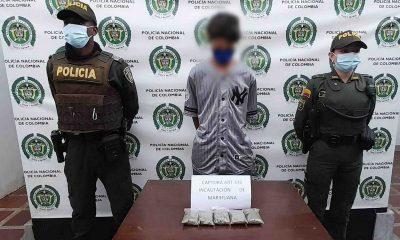 Capturado en El Carmen de Viboral con 200 dosis de marihuana