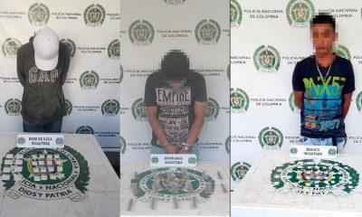 Cogieron a estos tres en Medellín con marihuana y bazuco
